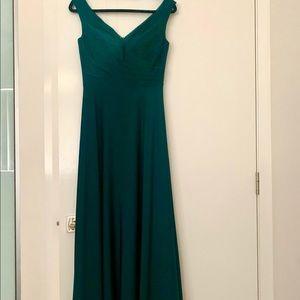 Emerald green formal dress